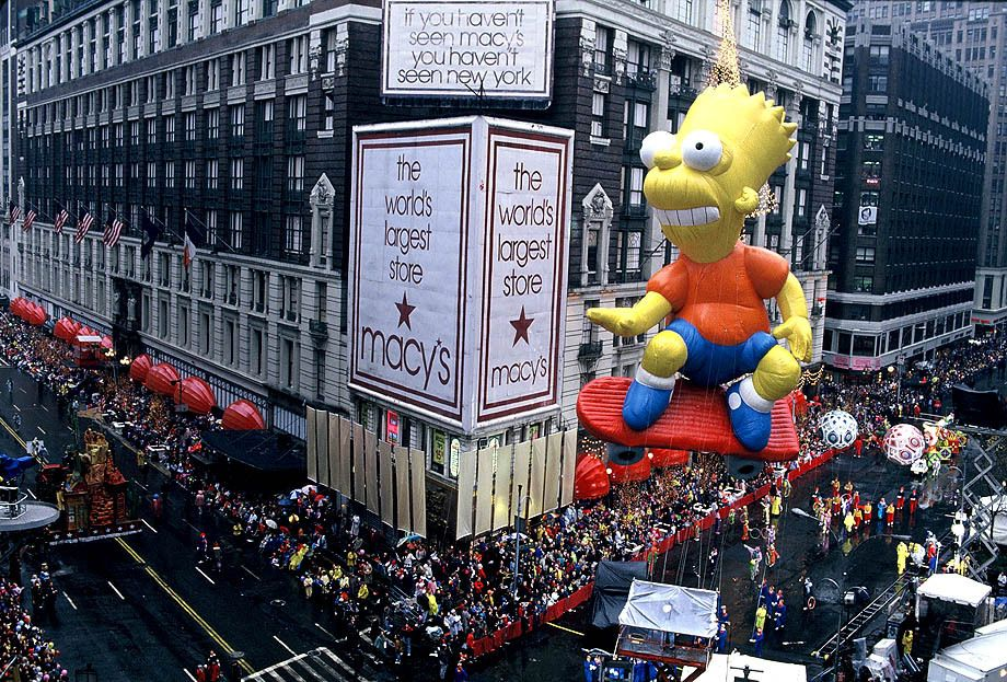 Documentary Photography - Bart Simpson at The Macy's Thanksgiving Day Parade