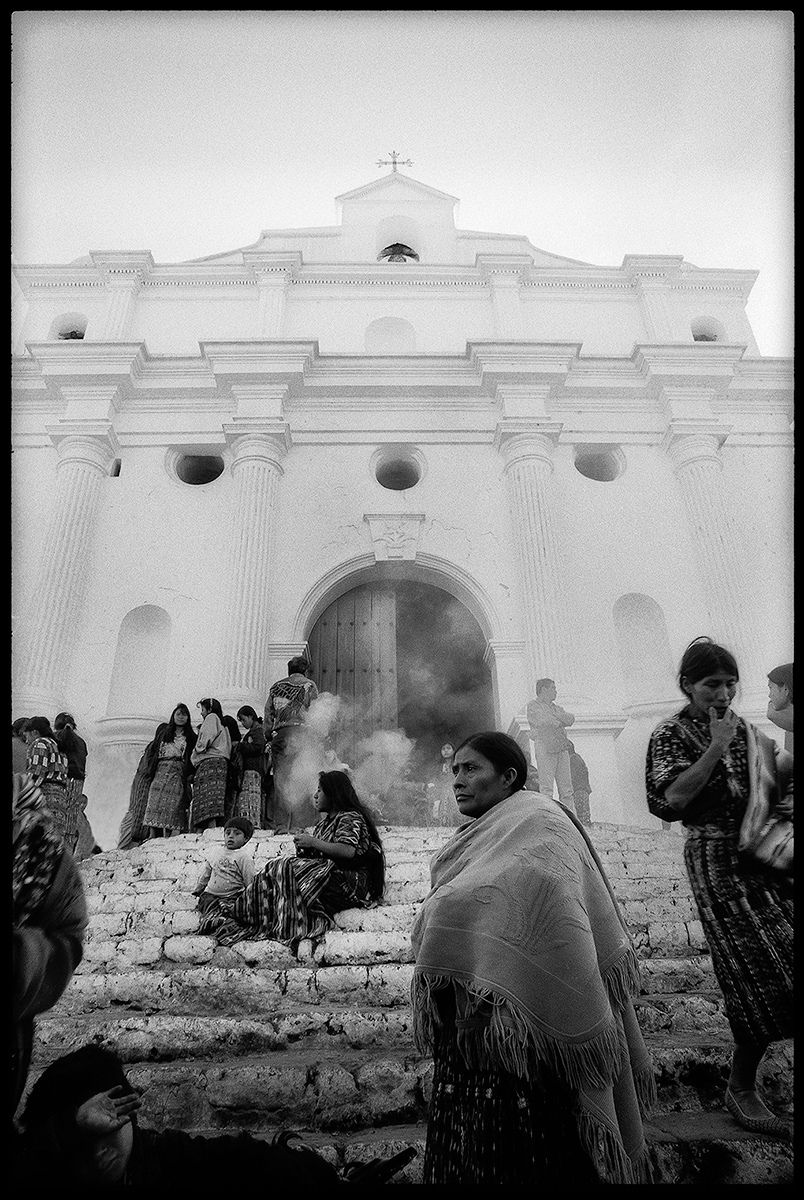 Chichicastenango Cathedral Steps 1998