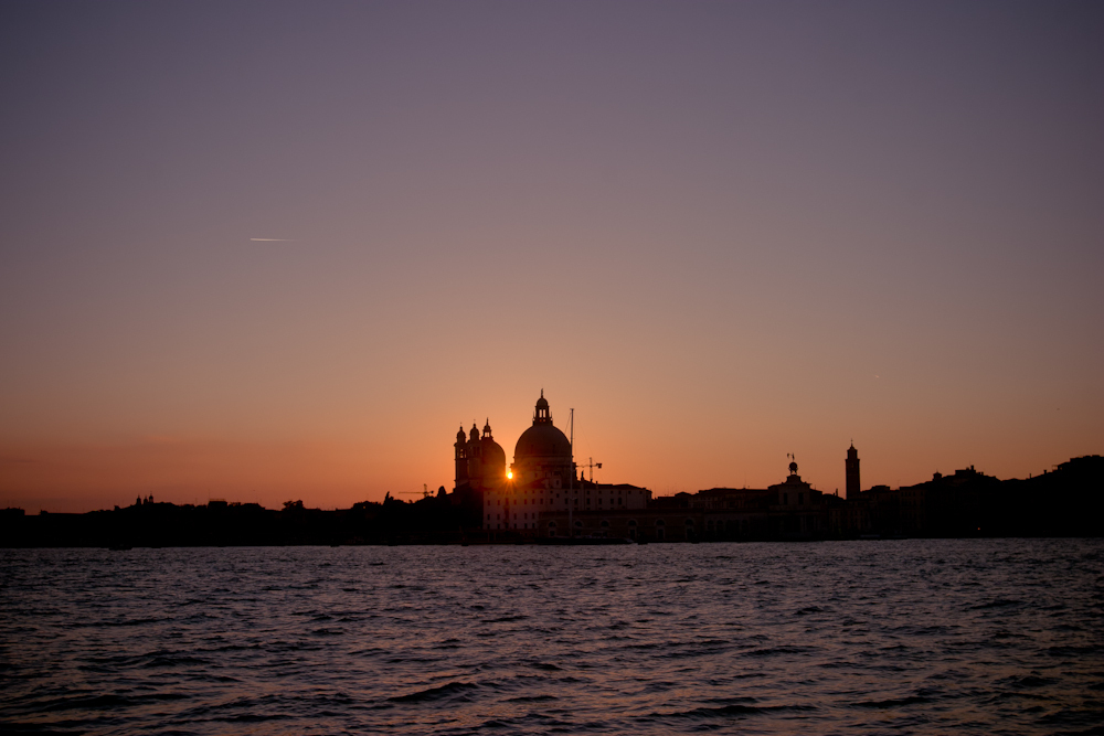 Sunset view by Piazza San Marco in Venice, Italy