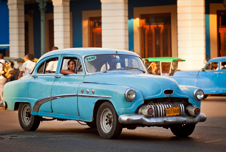 Classic American car in  the streets of Havana, Cuba