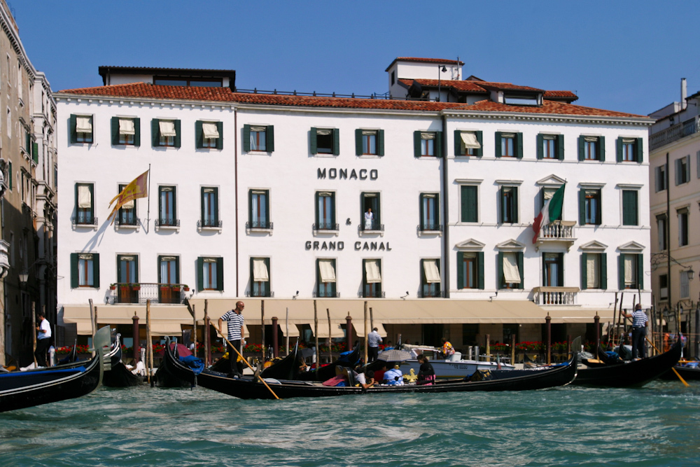 Sights along the canals in Venice, Italy