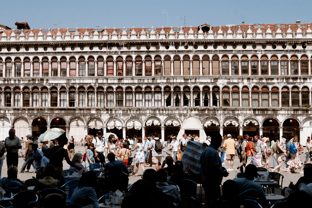 Sights of Piazza San Marco in Venice, Italy