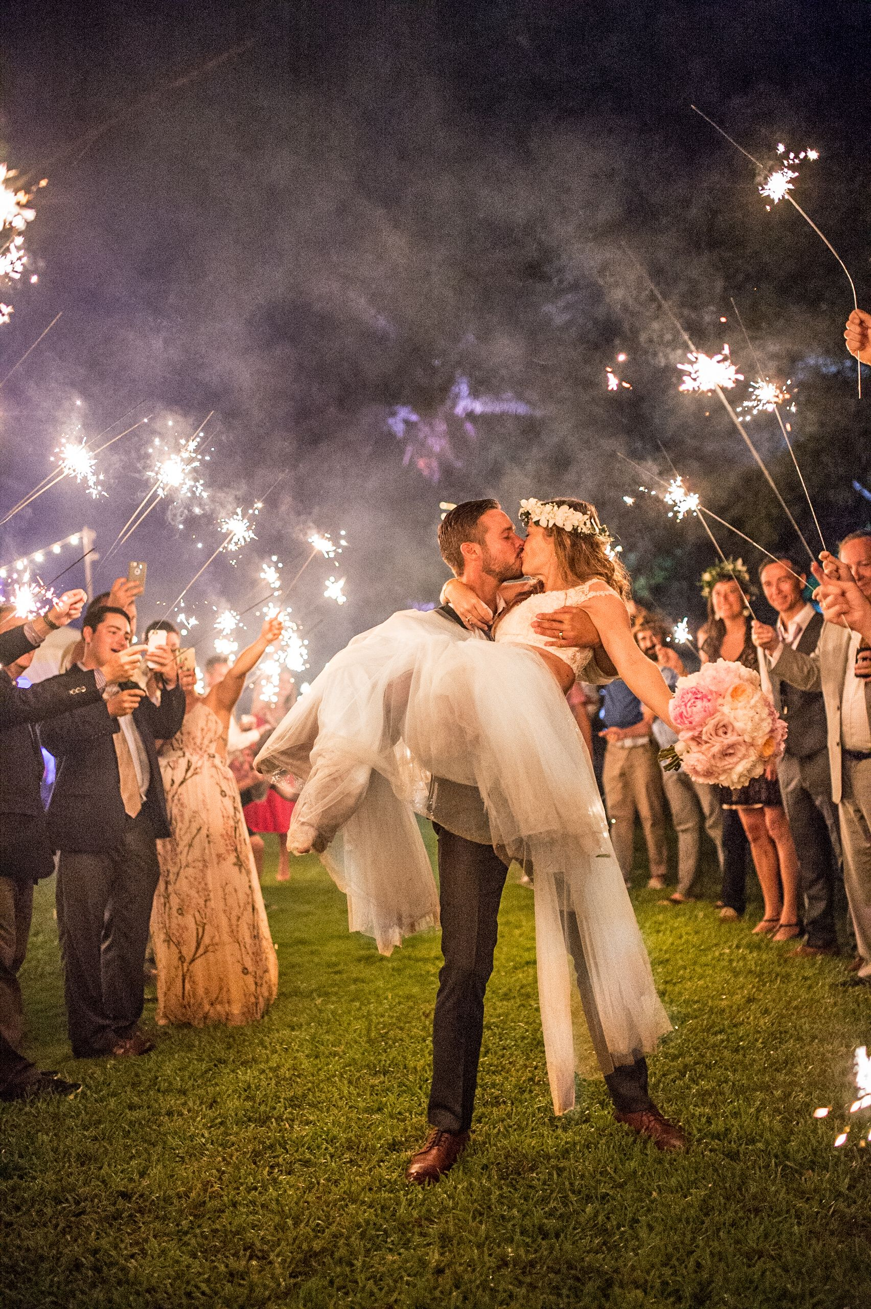 Hawaii Sparkler Wedding Photo