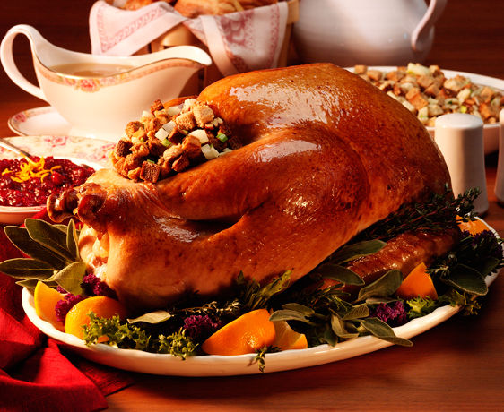 lisa bishop food stylist- roast turkey with stuffing