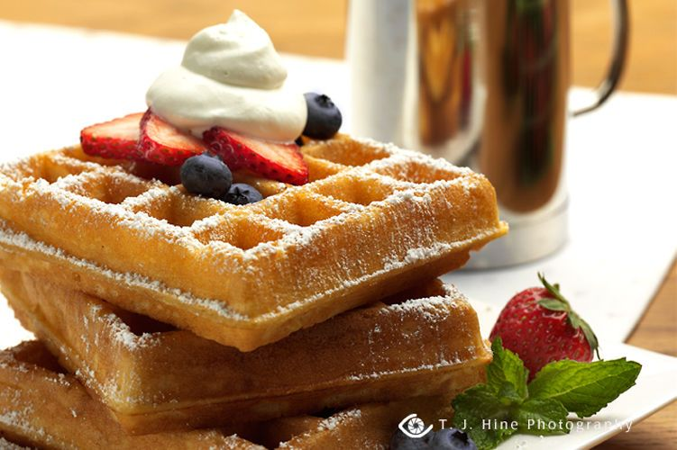 lisa bishop food stylist- berry belgian waffles