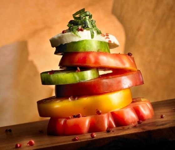 lisa bishop food stylist- tomato tower