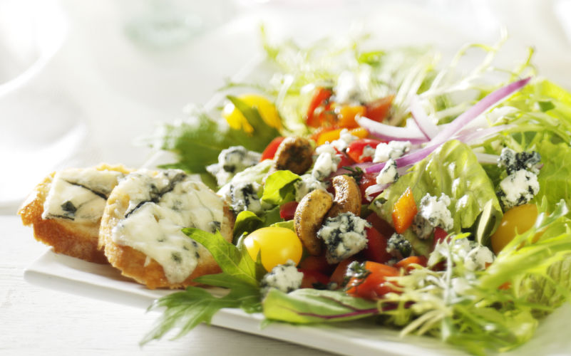 lisa bishop food stylist- blue cashewspring salad