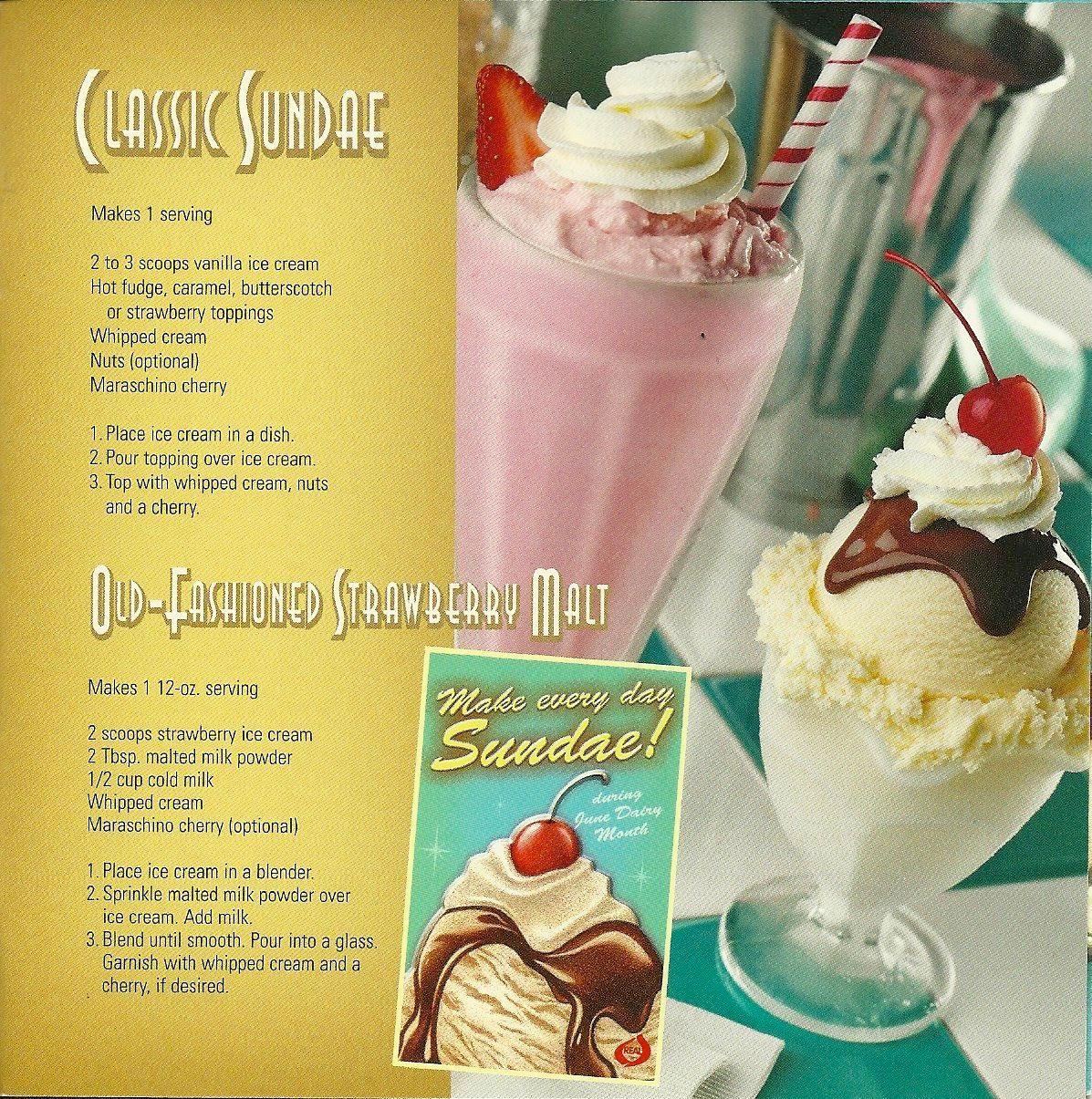 lisa bishop food stylist- classic sundae and strawberry malt