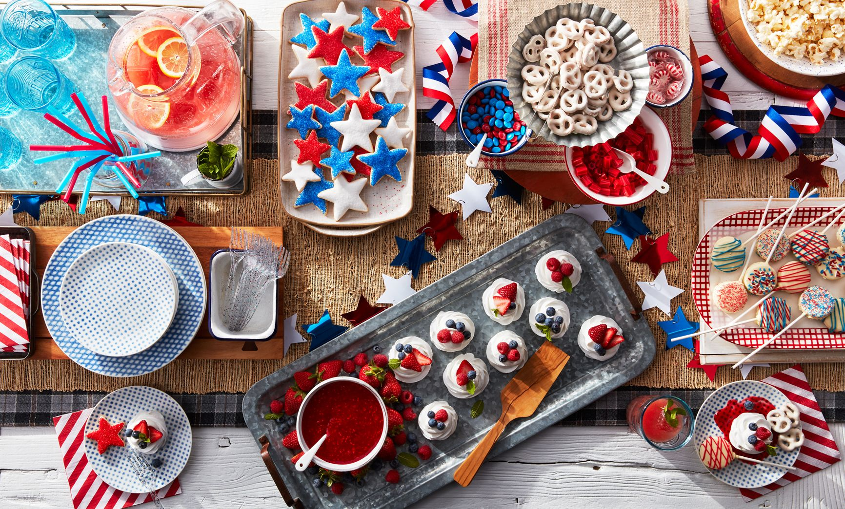 lisa bishop food stylist- Patriotic spread