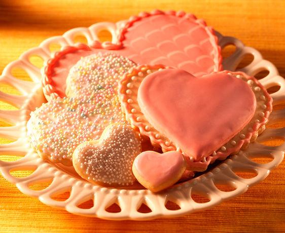 lisa bishop food stylist- heart cookies