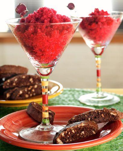 lisa bishop food stylist- cranberry granita