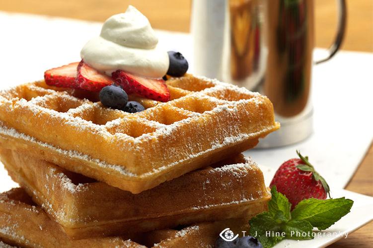 lisa bishop food stylist- berry belgian waffles