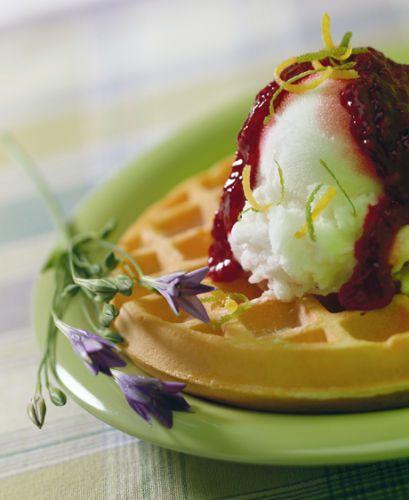 lisa bishop food stylist- belgian waffle sorbet sundae
