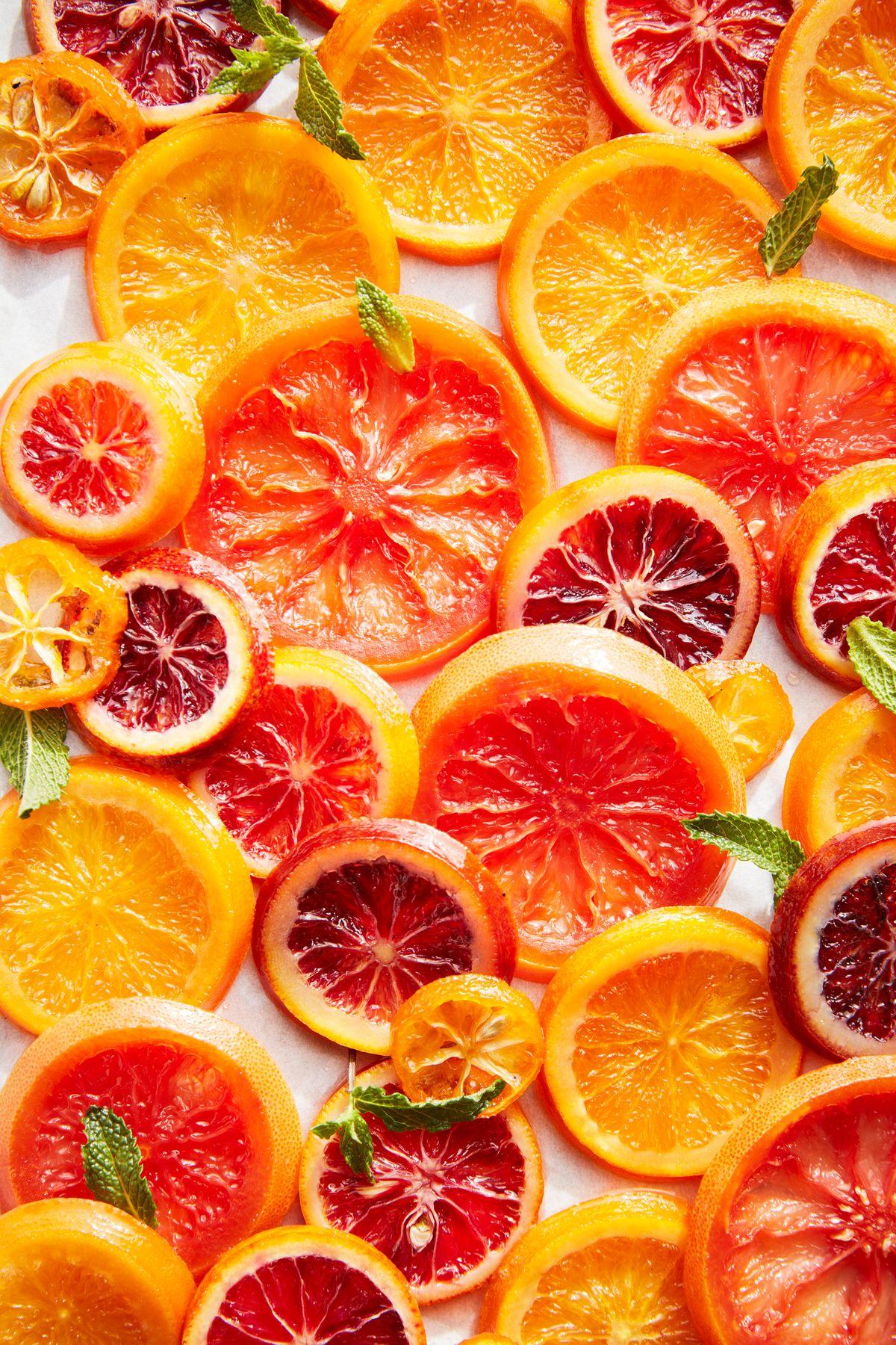lisa bishop food stylist- candied grapefruit, blood oranges and oranges