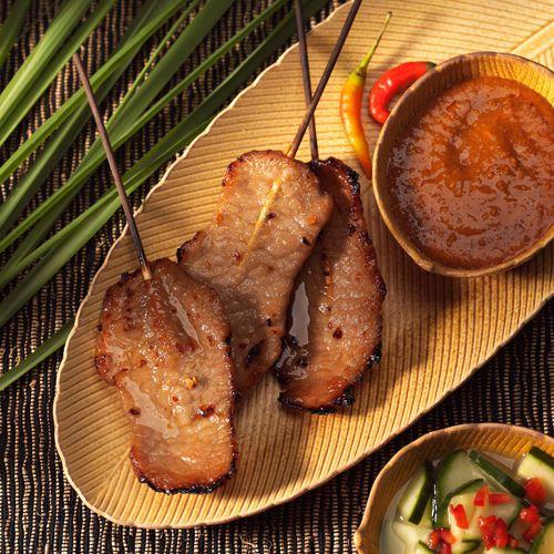 lisa bishop food stylist- curried pork satay