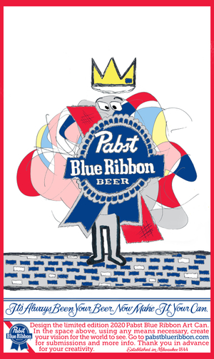 Design Submission: Pabst Blue Ribbon ART CAN Contest 2020