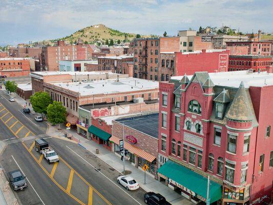 Butte Montana Wide Open Town: Park Street and Big Butte