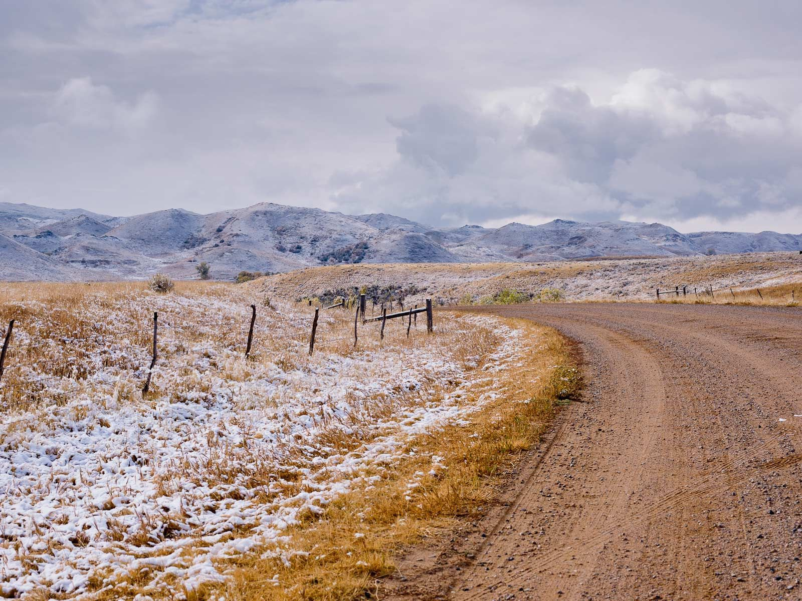 First Snow on Piney Creek Road
