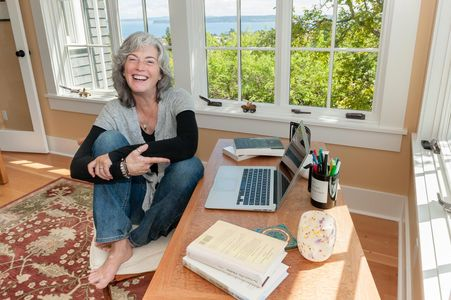 Erica Bauermeister, Author, in Her Sunny Writer's Studio