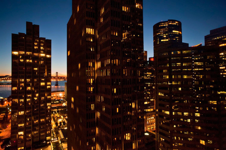 Downtown San Francisco at Sunset