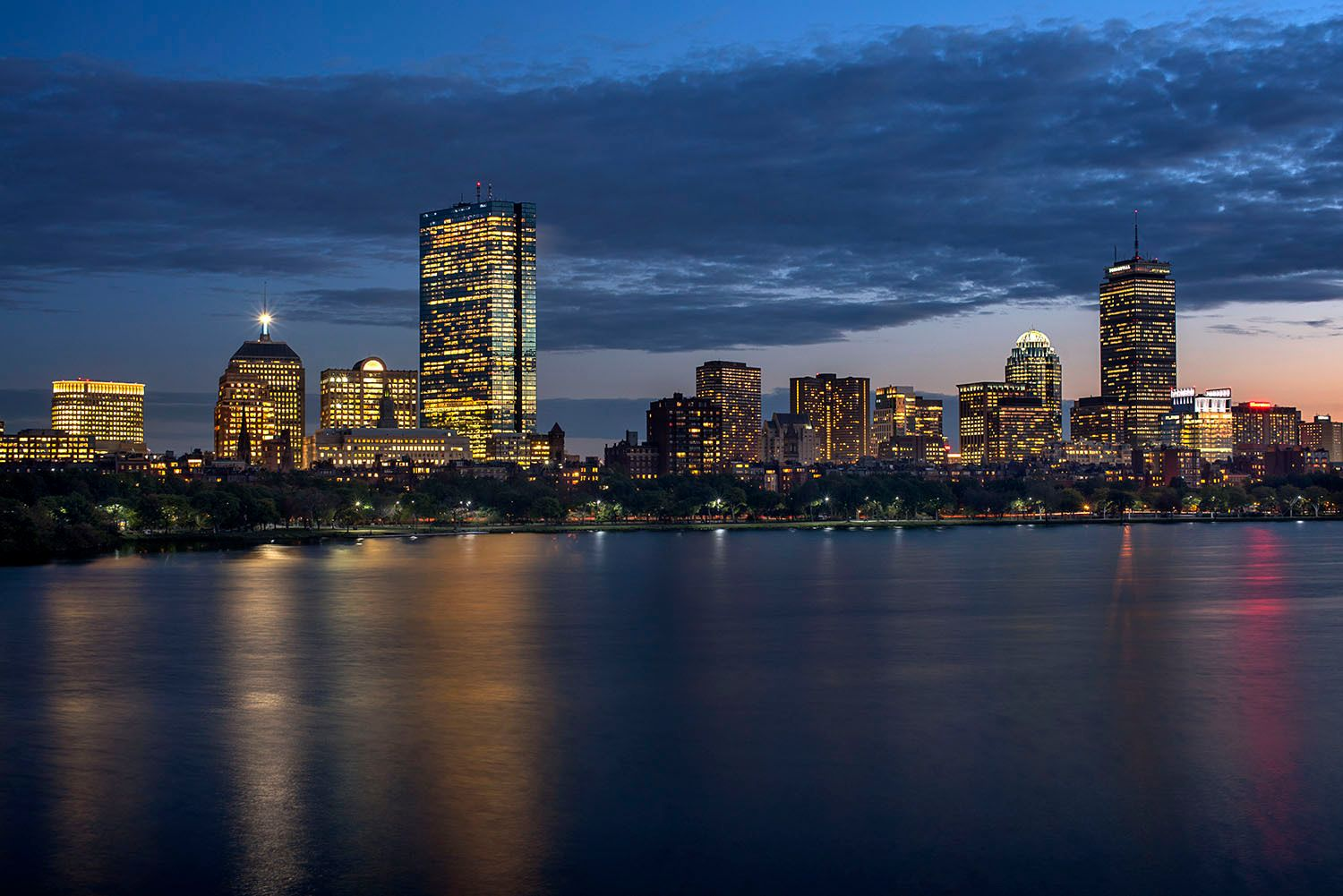 Boston Skyline and the Charles River