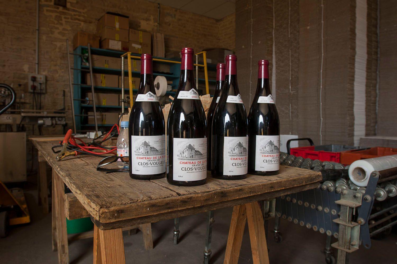 Bottles of Grand Cru, Cote d'Or, France