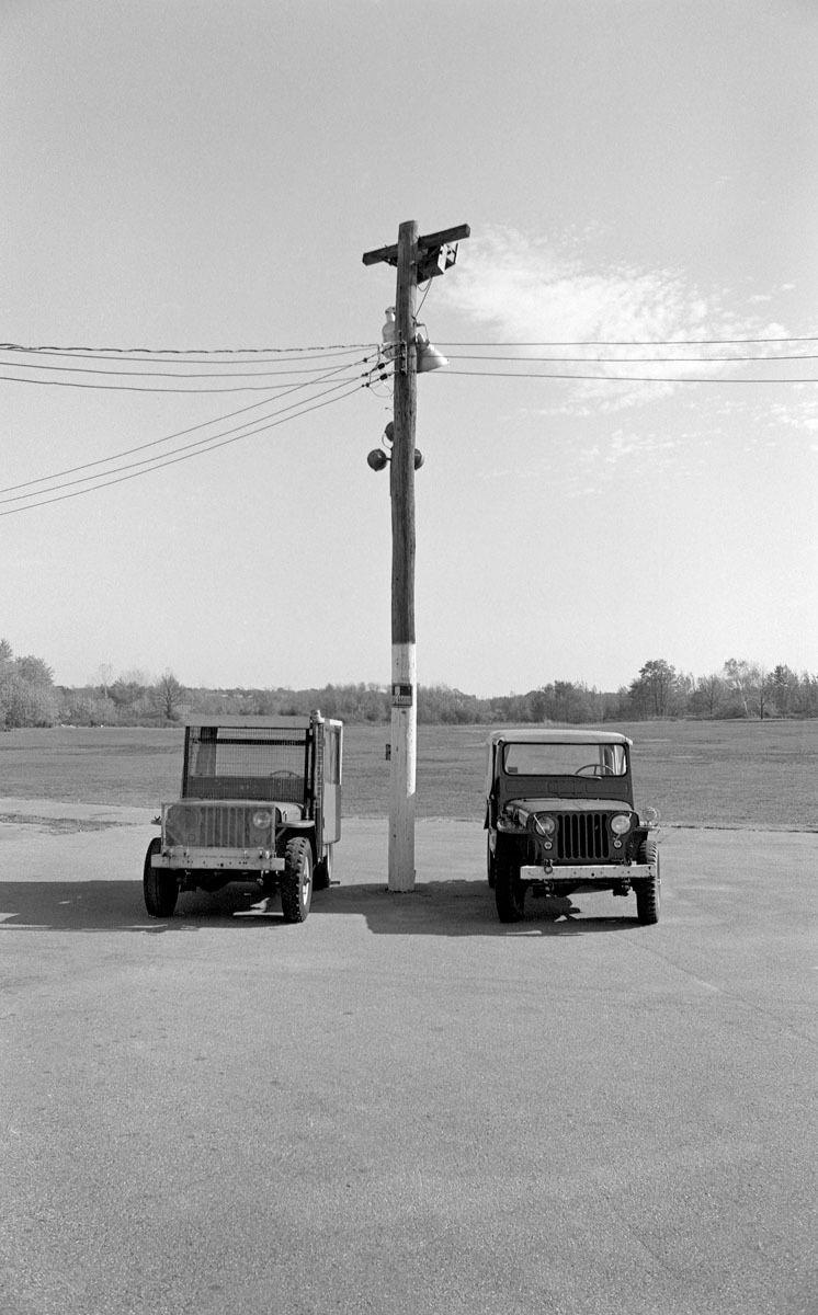 Parked Golf Range Jeeps