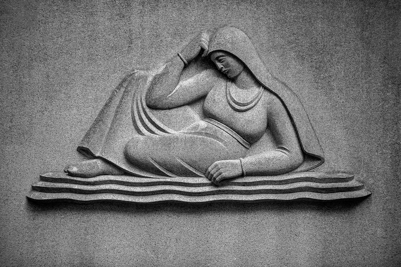 Cemetery Relief Statue