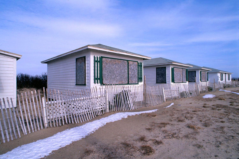 Summer Beach Cottages in Winter