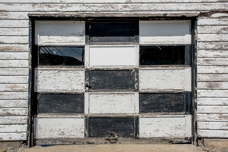 Black and White Garage Door