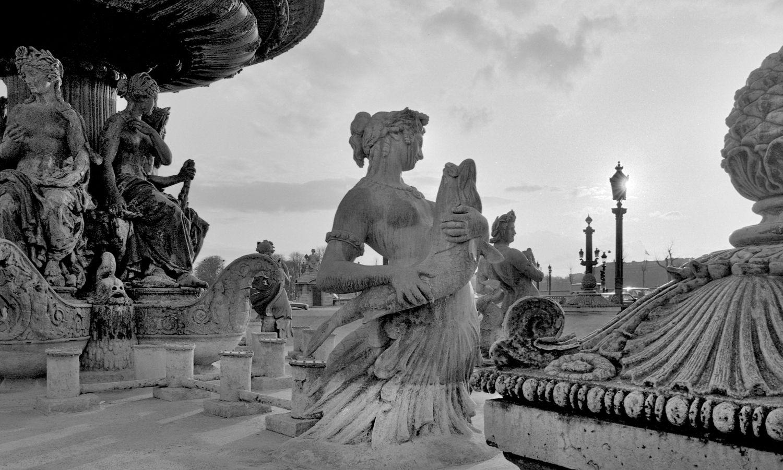 Water Fountain Statues at Place de la Concorde