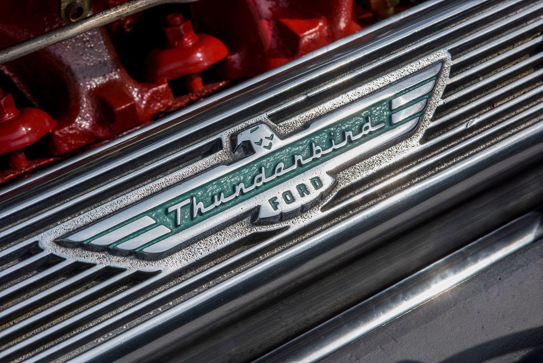 Ford Thunderbird Logo on Engine block