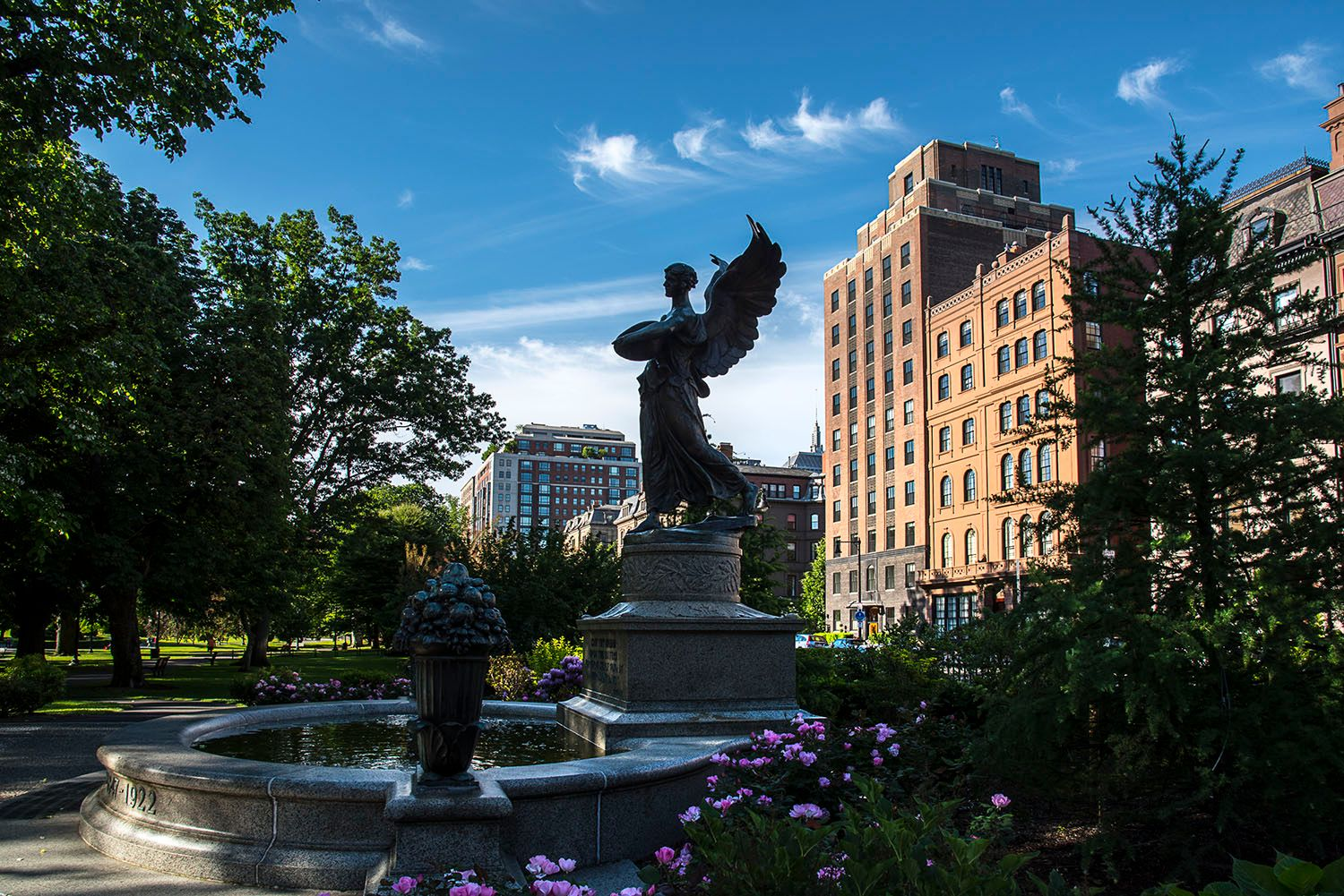 Angel Statue in Boston Gardens