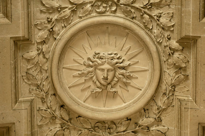 Medallian of sun god, Paris, France