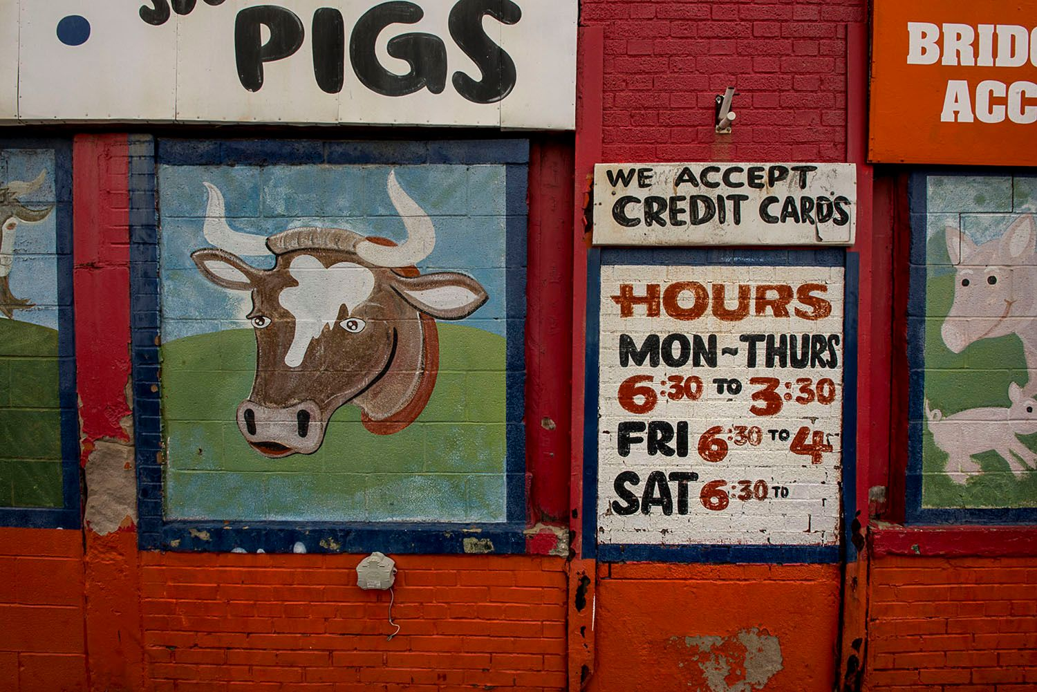 Painted Sign for Butcher Shop