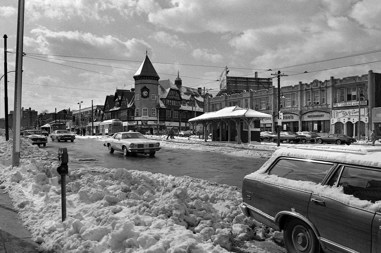 Coolidge Corner After Snowstorm