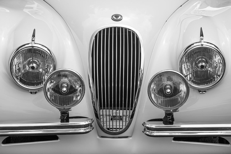 1950 Jaguar XK-120 Front Grill and headlights,
