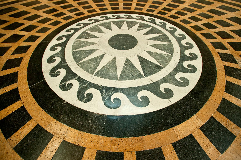 Pantheon marble floor medalion