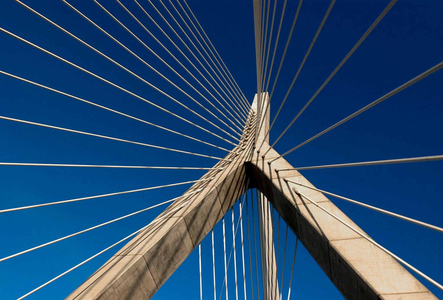 Architectural Detail of the Zakim Bridge