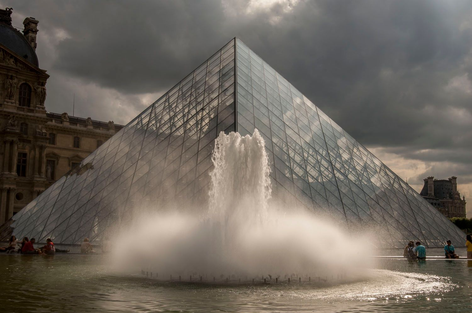 Glass Pyramid, The Louvre, Paris, France