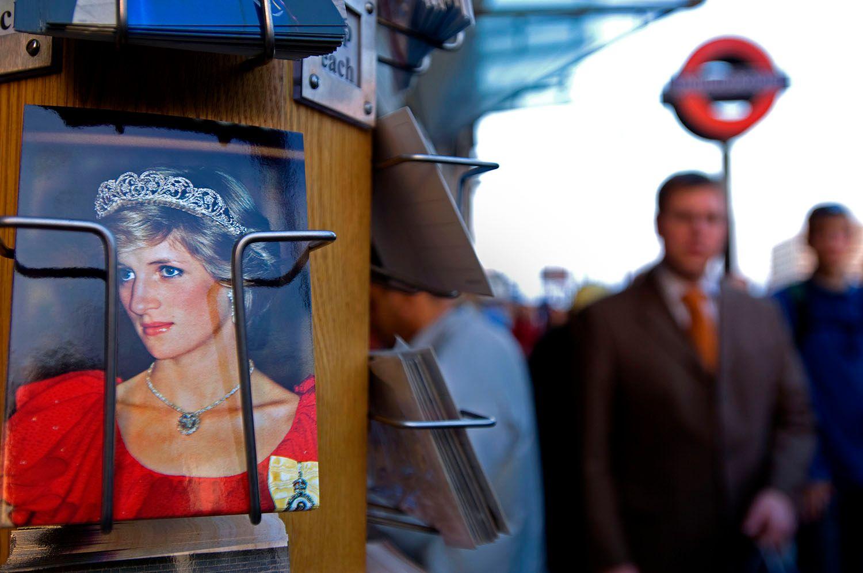 Postcard Rack with Princess Diana