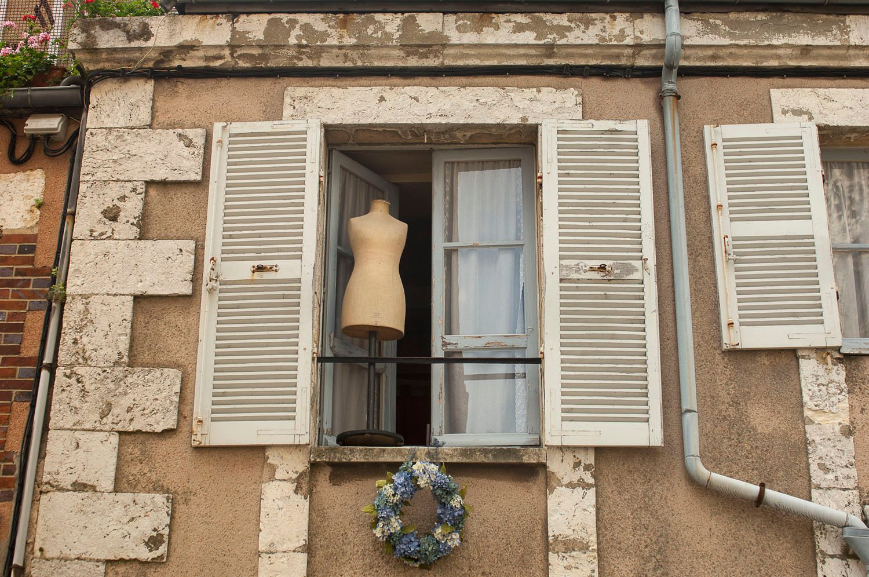 Body Form in Window, La Rochelle, France