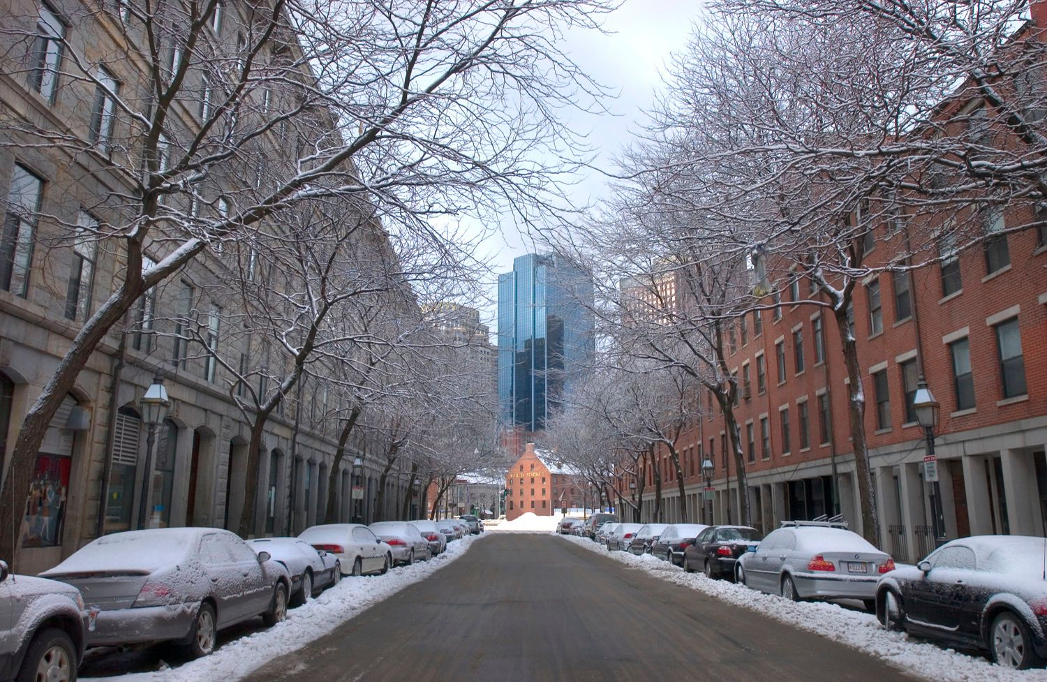 North End Street in Winter
