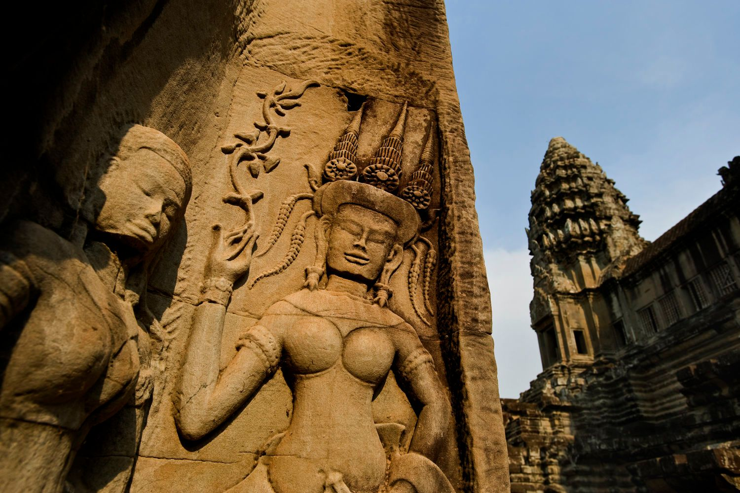 Angkor Wat Sculptures and Ruins