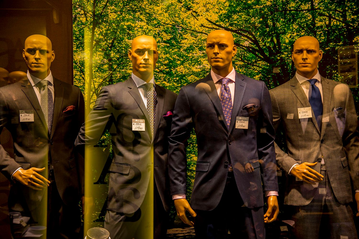 Male Mannequins in Store Window