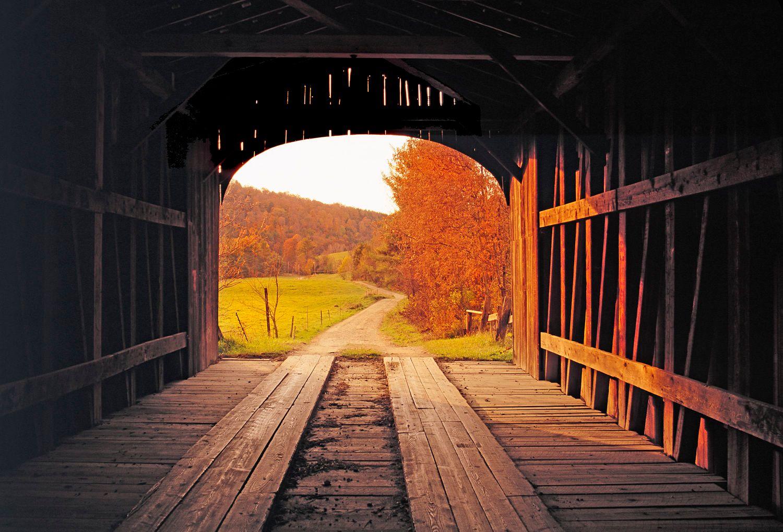 Vermont Covered Wooden Bridge