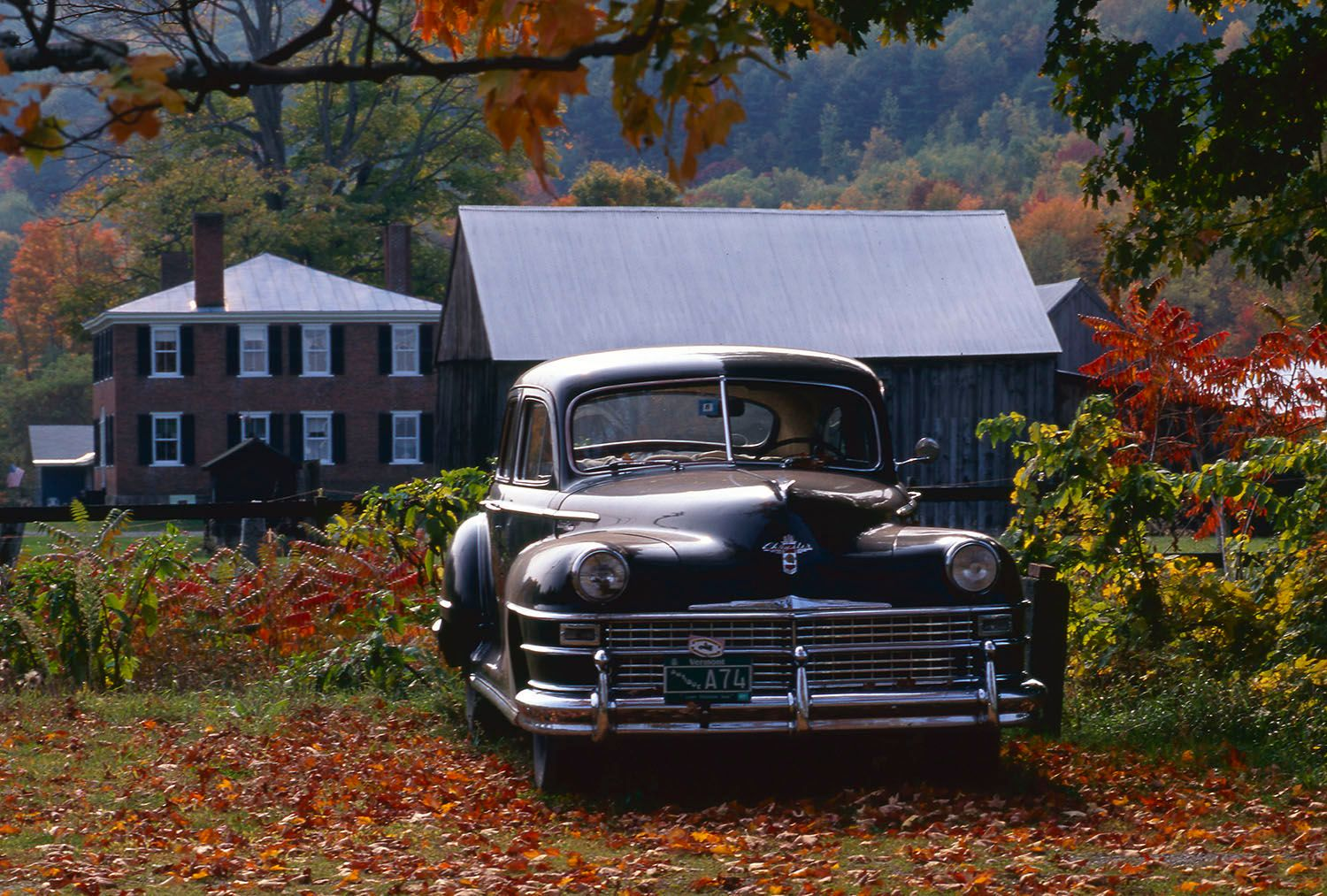 American classic Chrysler car in Vermont