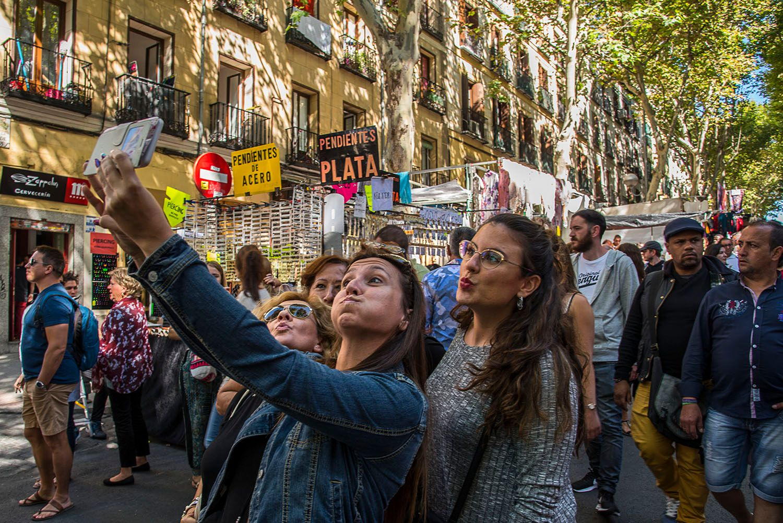 Women posing for selfie