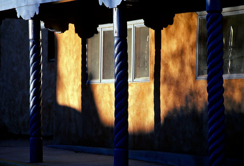 Sun Light on Stucco Building