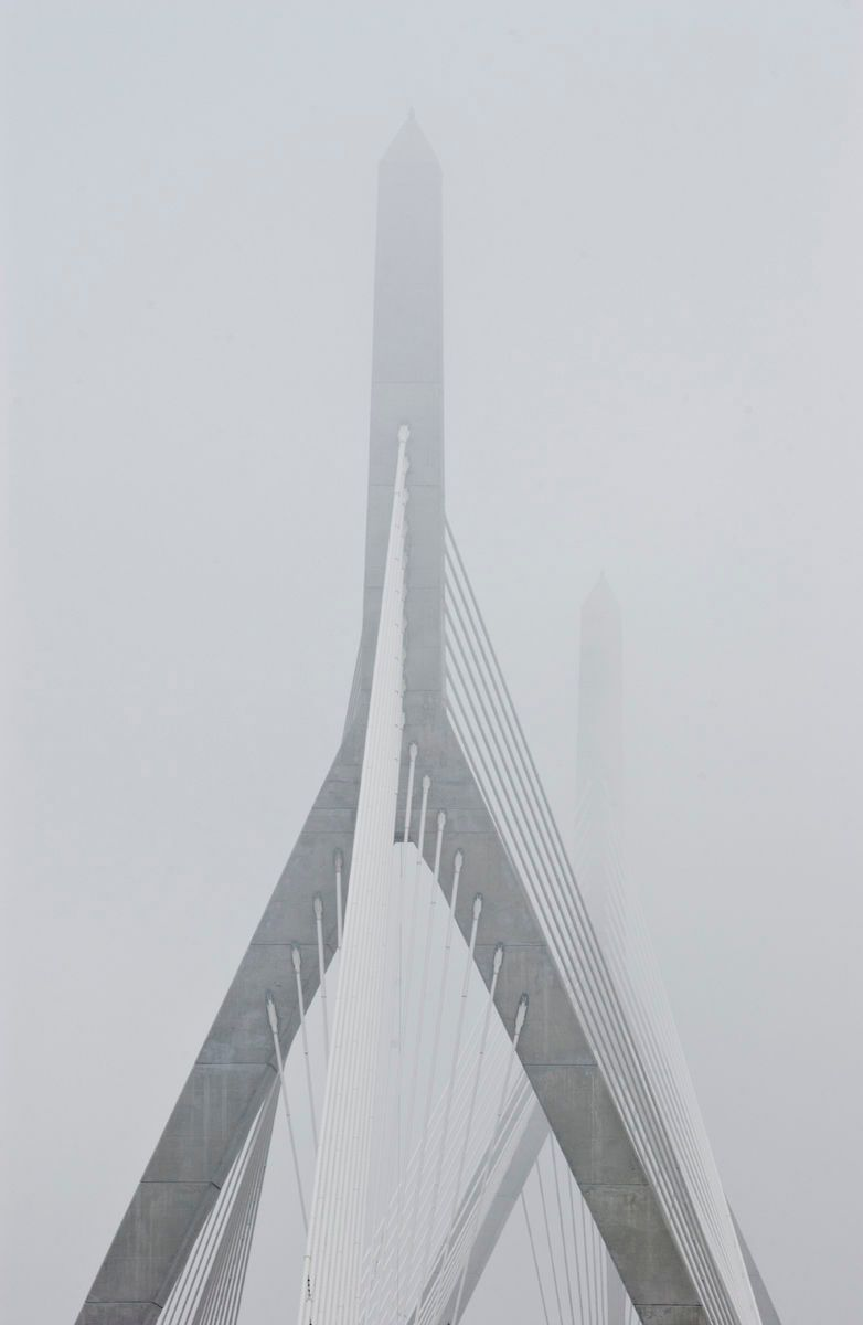 Zakim Bridge in Fog